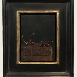 Five cherries, framed