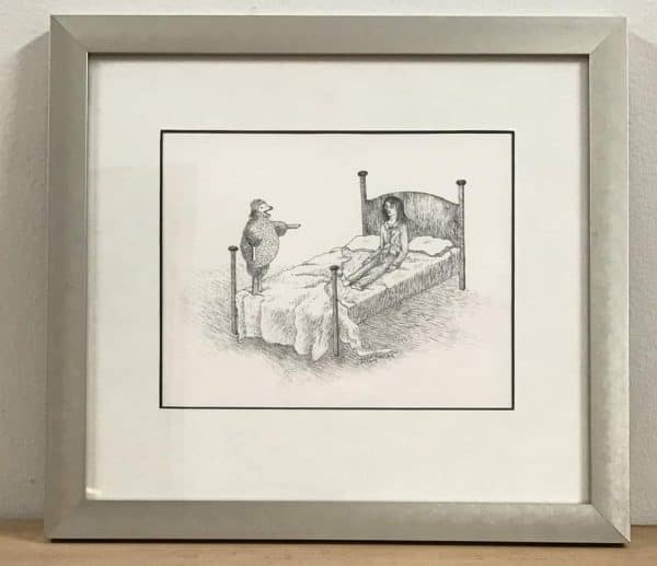 Insomnia Sheep Laughing, framed