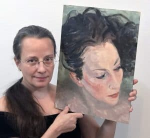 Gayle with art