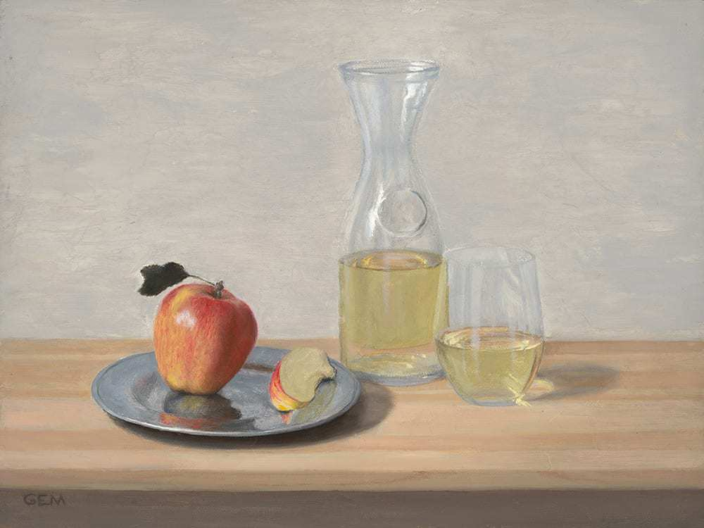 """Sweet Snack"" Oil on linen panel, 9""x12"", painted in 2018 - AVAILABLE"